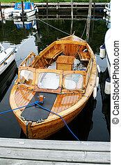 legno, norvegese, barca