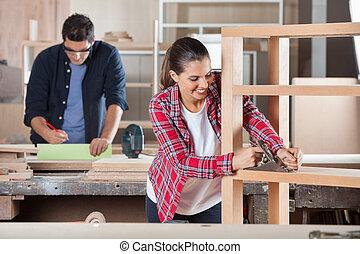legno, officina, carpentiere,  planer, rasatura