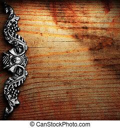 legno, ornamento, ferro