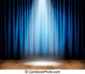 legno, palcoscenico, teatro, pavimento