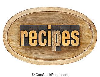 legno, parola, ricette, ciotola