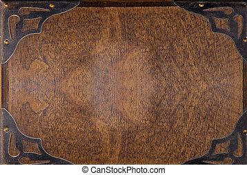 legno, piastra, fondo