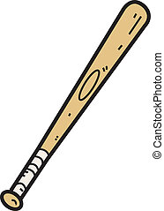 legno, pipistrello, baseball