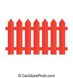 legno, rosso, recinto