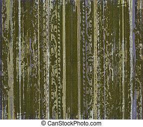 legno, rotolo, zebrato, grungy, verde, lavoro