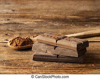 legno, scuro, vecchio, fondo, cioccolato