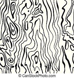 legno, seamless, modello, struttura, mano, disegnato, dipinto, vettore