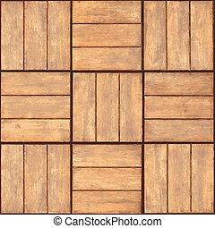 legno, -, seamless, struttura, parete, placca