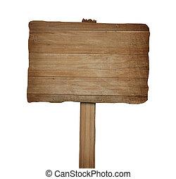 legno, segno, fondo, isolato, ritaglio, path., bianco