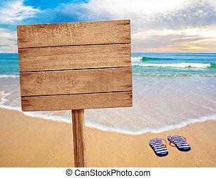 legno, segno spiaggia