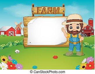 legno, segno, vuoto, contadino