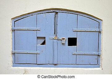 legno, seminterrato, porta, zona