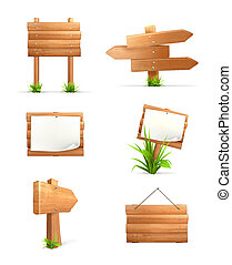 legno, set, segni