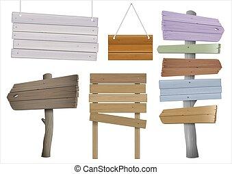 legno, signposts, set, vendemmia