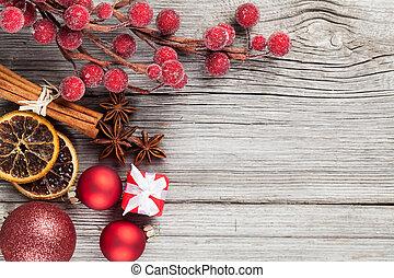 legno, spazio, testo, libero, Natale, decorazione, fondo, tuo