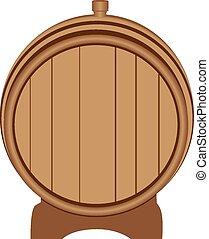 legno, spina, barile, tappato