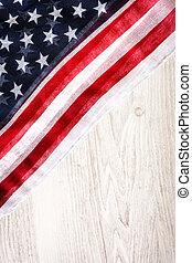 legno, stati, bandiera, unito, fondo