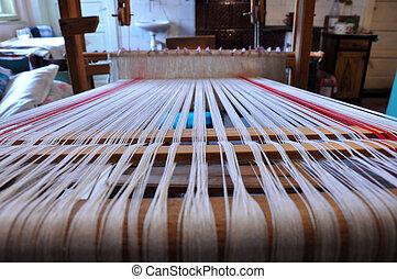 legno, stoffa, telaio, stringhe