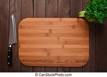 legno, tagliere, fondo