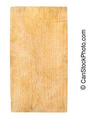 legno, tagliere, usato