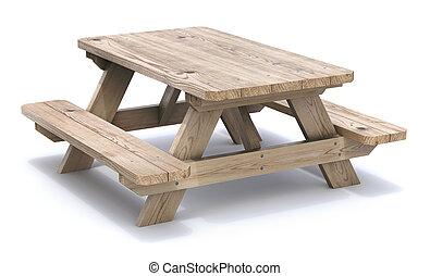 legno, tavola picnic
