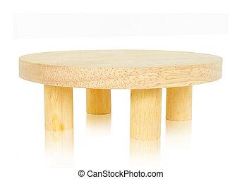 legno, tavola., rotondo