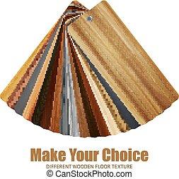 legno, tavolozza dei colori, fondo