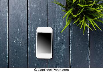 legno, telefono, far male, fondo