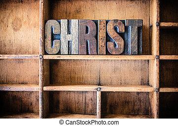 legno, tema, concetto, cristo, letterpress
