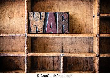 legno, tema, concetto, guerra, letterpress