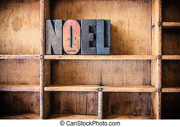 legno, tema, concetto, noel, letterpress