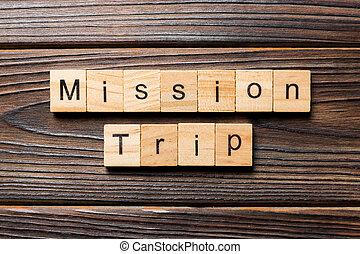 legno, testo, tavola, missione, concetto, scritto, viaggio, block., parola