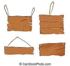 legno, textured, tavoli, set, -, mano, disegnato, disegno