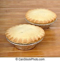legno, torta, due, fondo