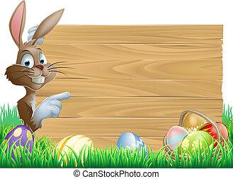 legno, uova, pasqua, segno