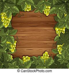 legno, uva, fondo
