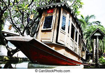 legno, vecchio, barca