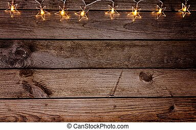 legno, vecchio, natale, rustico, fondo