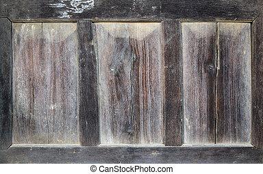legno, vecchio, porta, dettaglio