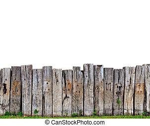 legno, vecchio, recinto