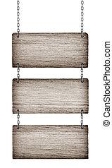 legno, vendemmia, isolato, fondo, segni, bianco