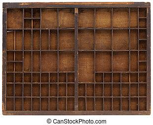 legno, vendemmia, typesetter, caso