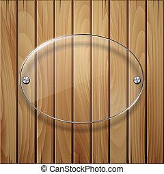 legno, vetro, framework., struttura