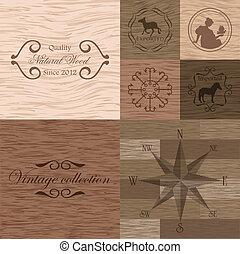 legno, vettore, asse, struttura