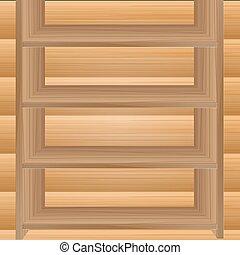 legno, vettore, mensole