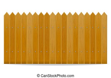 legno, vettore, recinto, illustrazione