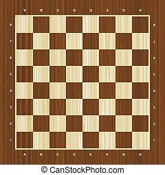 legno, vettore, scacchiera