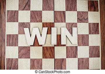 legno, vincere, concetto, fondo