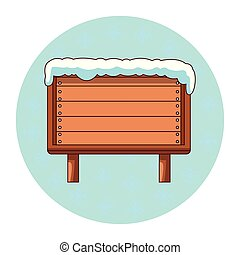 legno, vuoto, neve, segno