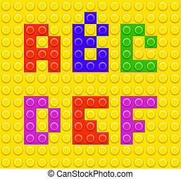 Lego blocks alphabet 1